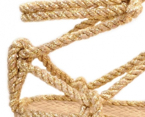 nomadic, nomadic state of mind, isla beige, sandales en cordes, rope sandals, nomadic or, nomadic gold, romano solid gold