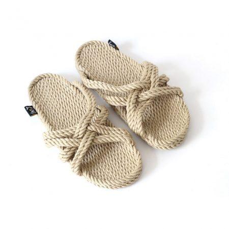 Sandales nomadic state of mind, sandale en corde, modèle slip on couleur beige