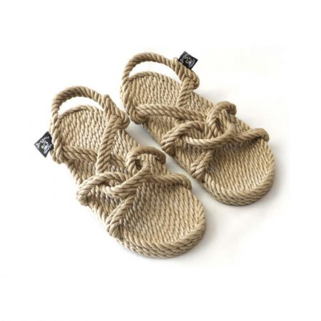 Sandales nomadic state of mind, sandale en corde, modèle mountain momma couleur beige