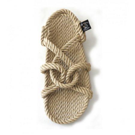 Sandales nomadic, sandale vegan, fait à partir de corde récyclé, modèle mountain momma beige