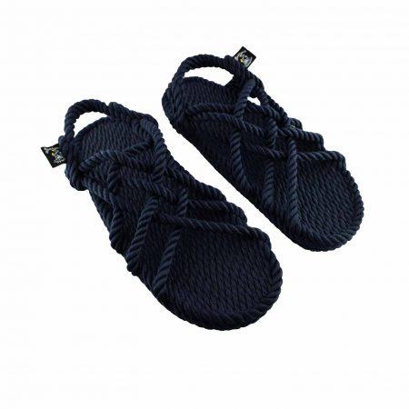 Sandales nomadic state of mind, sandale en corde, modèle jc couleur bleu et navy