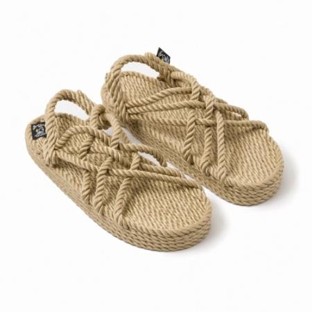 JC beige compensées nomadic state of mind, sandales en corde, sandales vegan, nomadic, nomadic sandals