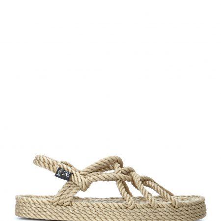 Sandales nomadic state of mind, sandale en corde, modèle jc couleur beige et compensses