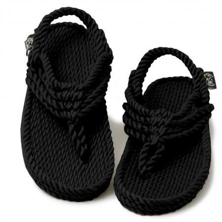 nomadic state of mind sandals, Jester Noir model, rope sandal