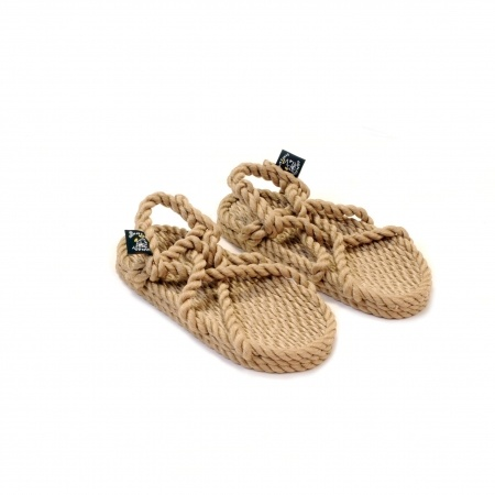Sandales nomadic state of mind, sandale en corde, modèle jc kids couleur beige