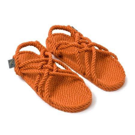 Sandales nomadic state of mind, sandale en corde, modèle jc couleur pumpkin