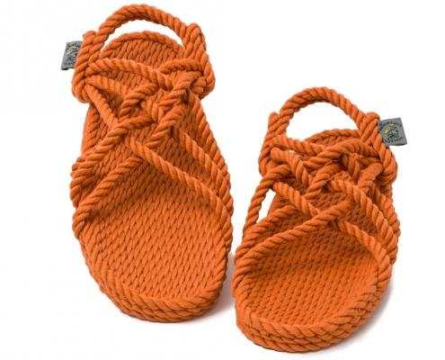 Sandales Boho nomadic state of mind, en corde, modèle jc couleur pumpkin