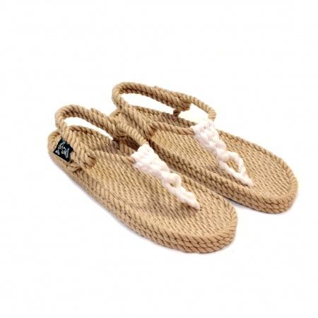nomadic state of mind, sandales nomadic, nomadix, nomadic sandals, athena beige blanc, athena camel white, sandales en corde, rope sandals