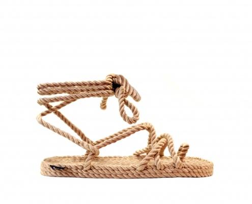 Sandales nomadic state of mind, sandale en corde, modèle isla couleur beige