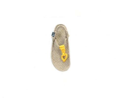 Sandales Boho nomadic state of mind, en corde, modèle athena couleur beige et jaune