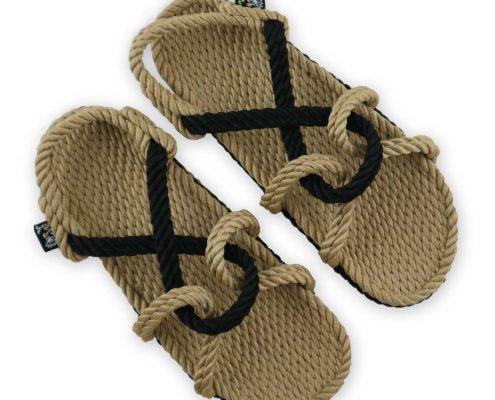 Nomadic, nomadic State, nomadic state of mind, sandales en cordes, rope sandals, sandales mountain momma noir, Nomadic sandales, nomadic, sandali di corda, vegan sandals,nomadic state mountain momma beige-noir, nomadic sandals camel-black