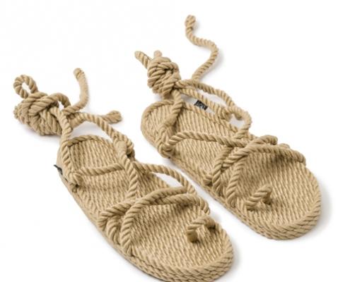 Sandales Boho nomadic state of mind, en corde, modèle isla couleur beige