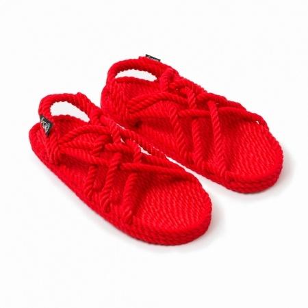 Sandales nomadic state of mind, sandale en corde, modèle jc couleur rouge