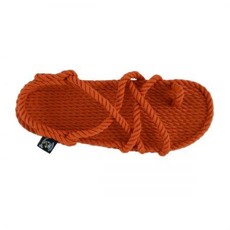 Sandales nomadic, sandale vegan, fait à partir de corde récyclé, modèle Toe joe pumpkin