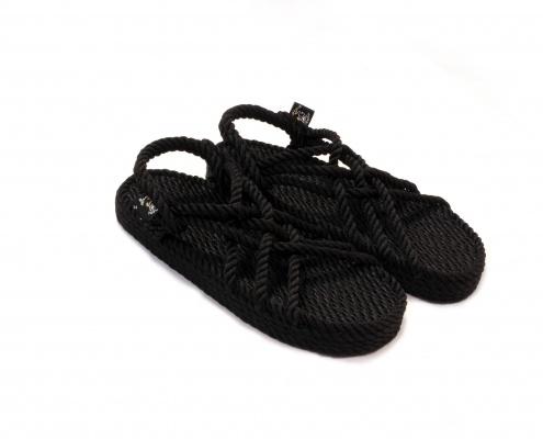 nomadic state of mind sandals, JC model black wedge, rope sandal