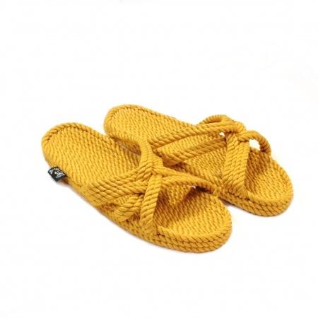 Sandales nomadic state of mind, sandale en corde, modèle slip on gold