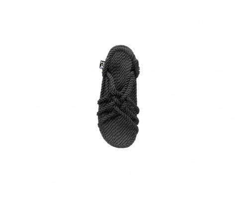 sandales nomadic state of mind, modele JC compensées noir, sandale en corde