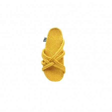 Sandales nomadic, sandale vegan, fait à partir de corde récyclé, modèle slip on beige