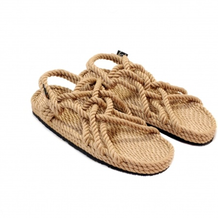 Sandales nomadic state of mind, sandale en corde, modèle jc couleur beige Vibram sole