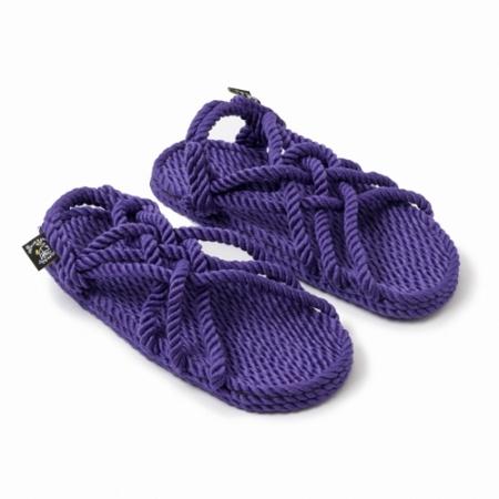 nomadic state of mind sandals, model jc Purple, rope sandal
