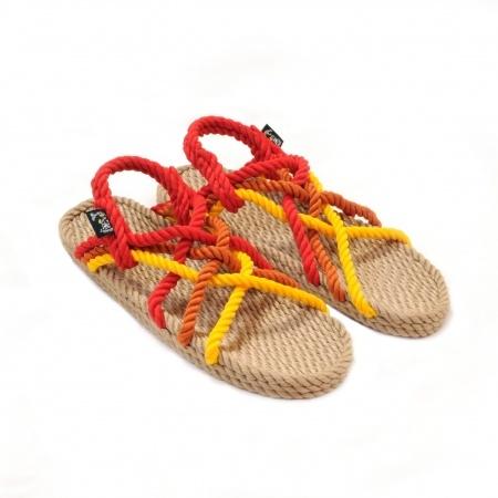 Sandales nomadic state of mind, sandale en corde, modèle jc couleur sunrise