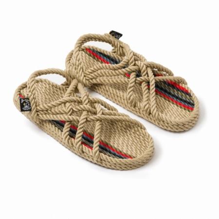 Sandales nomadic state of mind, sandale en corde, modèle jc couleur Woodstock