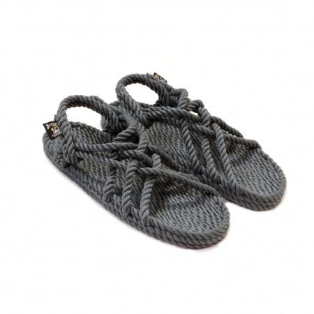 Sandales nomadic state of mind, sandale en corde, modèle jc couleur gris