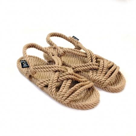Sandales nomadic state of mind, sandale en corde, modèle lounger couleur beige