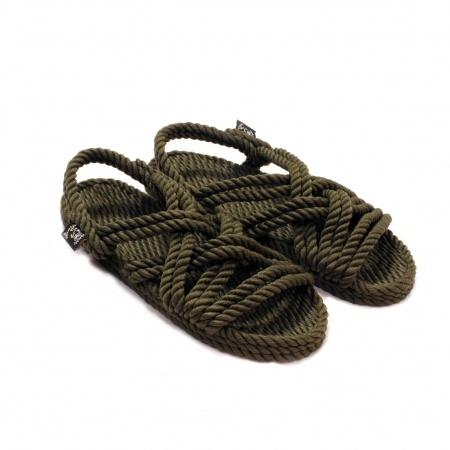 Sandales nomadic state of mind, sandale en corde, modèle Lounger couleur sage green